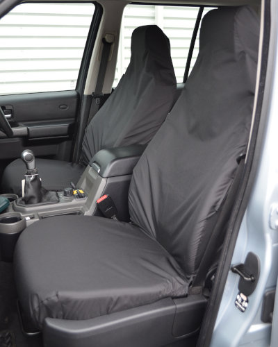 Discovery 3 Black Front Seat Covers without Armrests