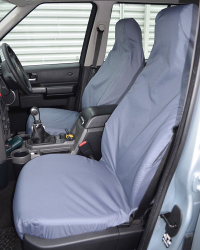 Discovery 3 Grey Front Seat Covers without Armrests