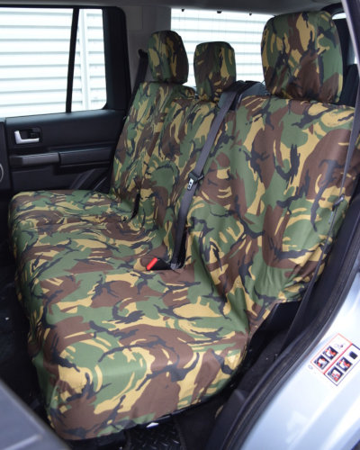 Discovery 3 Green Camouflage Waterproof Rear Seat Covers