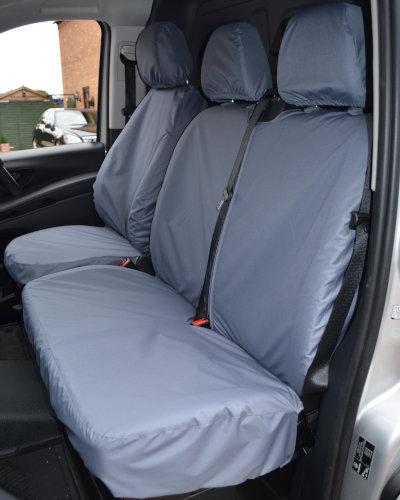 Mercedes Vito Grey Double Passenger Seat Cover