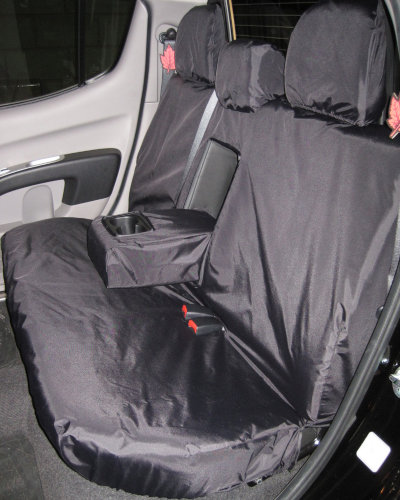 Mitsubishi L200 Double Cab Rear Seat Cover - Black