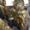 Front Seat Covers in Green Camo for Mitsubishi L200 Series 3