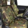 Green Camo Waterproof Seat Covers - Mitsubishi L200 1996-2005