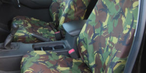 Navara D40 Front Seat Covers - Green Camo