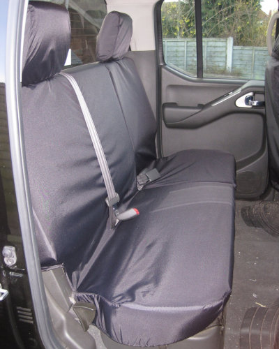 Navara D40 Rear Seat Covers - Black