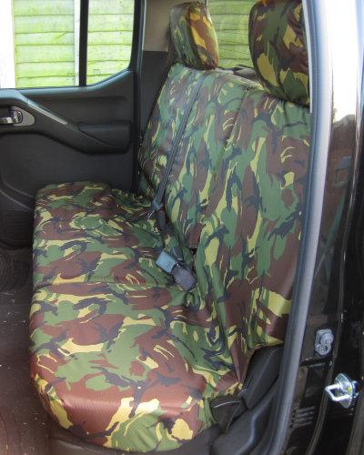 Navara D40 Rear Seat Cover - Green Camo