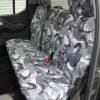 Navara D40 Rear Seat Cover - Grey Camo