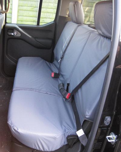 Navara D40 Rear Seat Covers - Grey