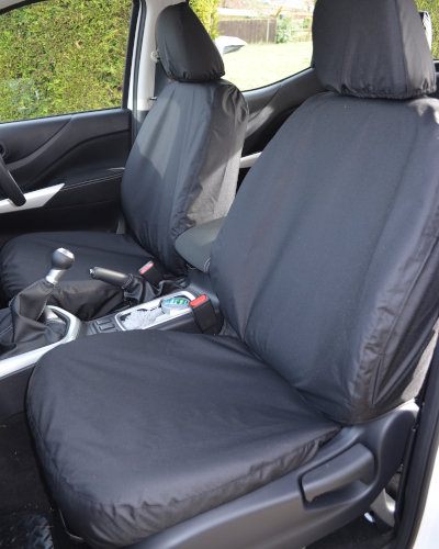 Navara NP300 Front Seat Covers - Black