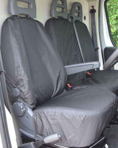 Peugeot Boxer Front Seat Cover in Black