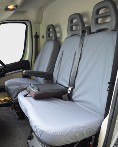 Grey Front Seat Covers for Peugeot Boxer