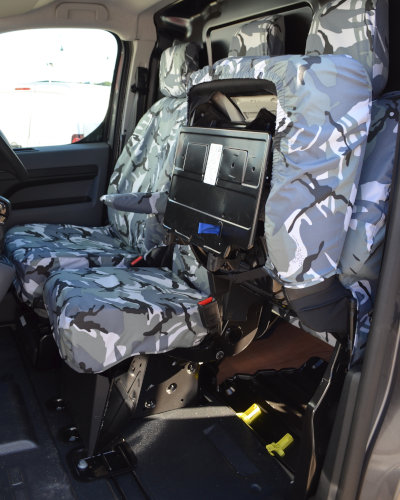 Peugeot Expert Fold-Up Seat Cover in Camo