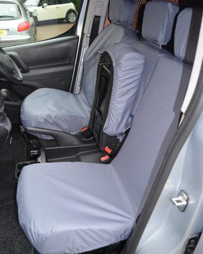 Grey Waterproof Seat Covers - Peugeot Partner Panel Van