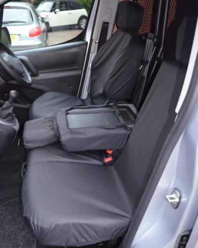 Peugeot Partner Black Seat Covers
