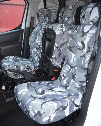 Camouflage Tailored Seat Covers - Peugeot Partner Van