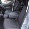 Black Waterproof Seat Covers - Peugeot Partner Panel Van