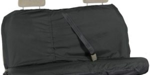 Waterproof Rear Seat Cover in Black
