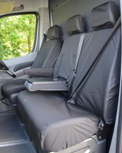 Sprinter Van Seat Covers - Black Front