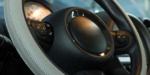 Steering Wheel Cover - Light Grey