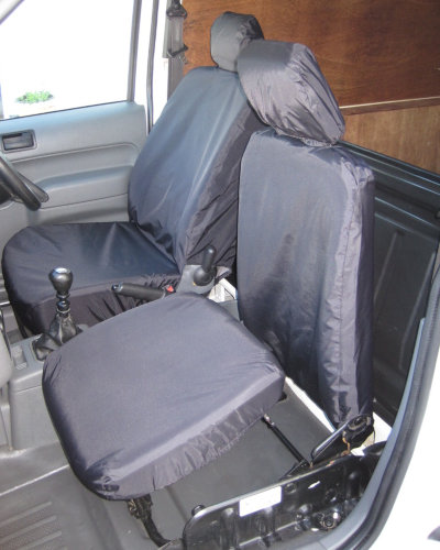 Ford Transit Connect Van Mk1 Front Seat Covers - Black