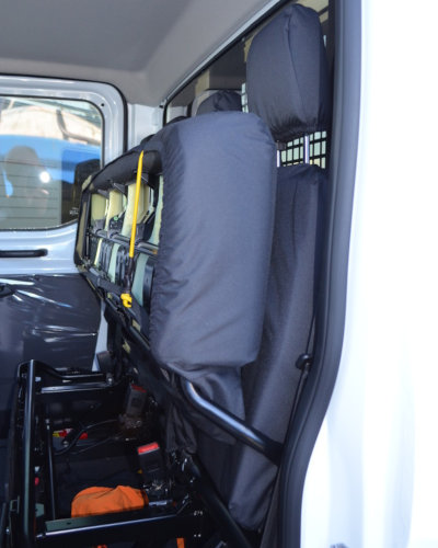 Ford Transit Rear Quad Bench Seat Cover in Black