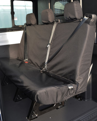 Ford Transit Double Cab Van Triple Seat Covers in Black