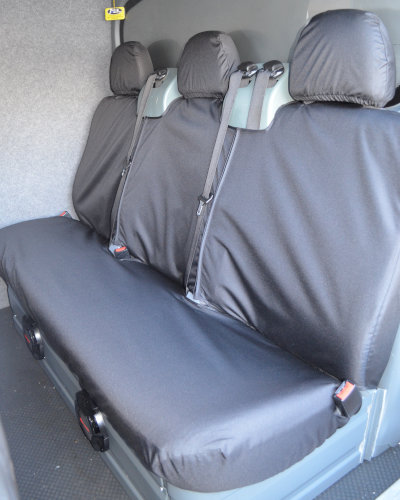 Ford Transit Van mk6 to mk7 - 2nd Row Black Seat Cover