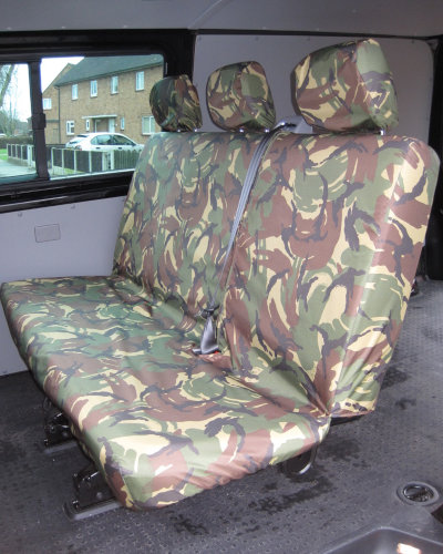 VW Transporter T5 Camouflage Rear Seat Cover