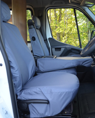 Vauxhall Movano Front Seat Covers - Grey
