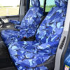 VW T5 Front Seat Cover in Blue Camo