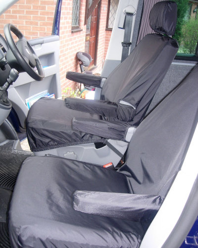 VW T5 Single Seat Covers in Black