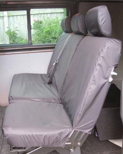 VW Transporter Kombi T6 Seat Covers 2nd Row - Black