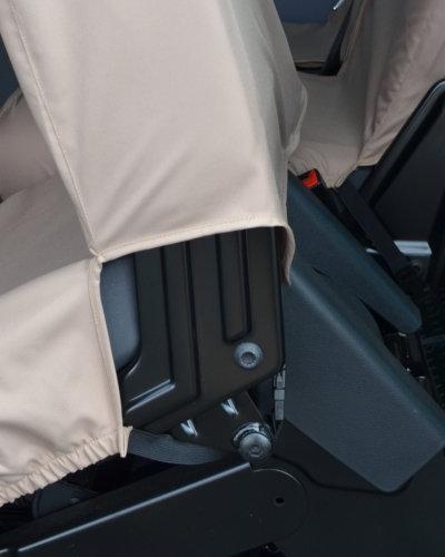 VW Transporter Kombi T6 2nd Row Seat Covers in Beige