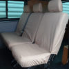 VW Transporter Kombi T6 Seat Covers 2nd Row - Beige or Cream