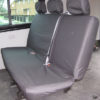 VW Transporter Kombi T6 Seat Covers 2nd Row Bench in Black