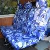 VW Transporter Kombi T6 Seat Covers 2nd Row Bench - Blue Camo