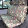 VW Transporter Kombi T6 Seat Covers 2nd Row Bench - Green Camo