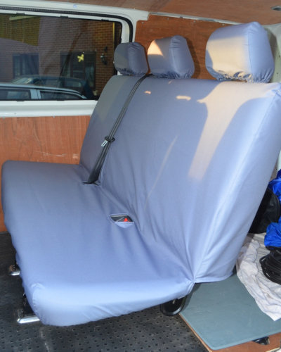 VW Transporter Kombi T6 Seat Covers 2nd Row Bench in Grey