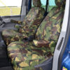 VW Transporter Front Seat Covers Green
