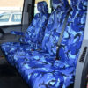 VW Transporter Seat Covers - Blue Camo