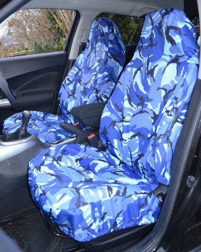 Camo Blue Seat Covers