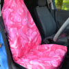 Pink Front Seat Cover - Camouflage
