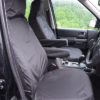 Discovery 4 Front Seat Covers with Armrests in Black