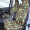Discovery 4 Front Seat Covers - Green Camouflage