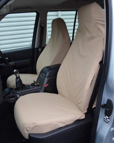 Discovery 4 Front Seat Covers in Cream, Sand, Beige