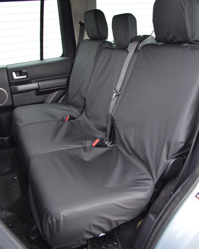 Land Discovery 4 Rear Seat Covers - Black