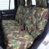 Green Camo Waterproof Rear Seat Covers - Discovery 4