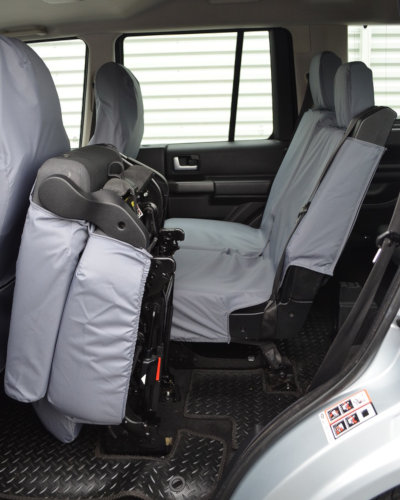 Grey Waterproof Covers for 3 Rear Seats in Discovery 4