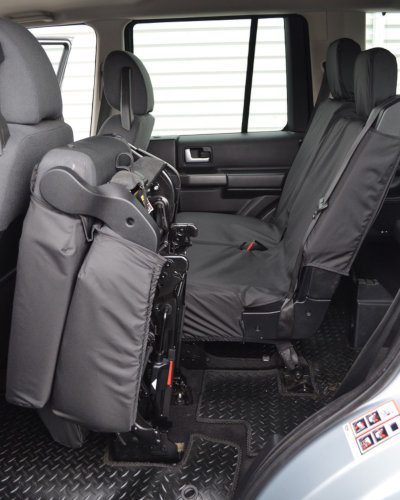 Black Waterproof Rear Seat Covers for Discovery 4