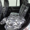Grey Camo Waterproof Rear Seat Covers - Discovery 4